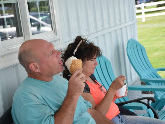 Ted and Laura Kramer traveled one hours to Bridgeville's