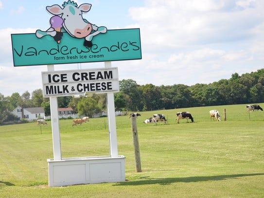 The Vanderwende Farm Creamery has been serving ice