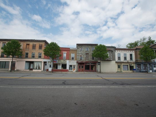 This block of properties could use some love and attention,