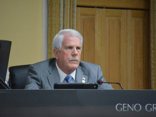 Geno Grubbs at the city council regular session on