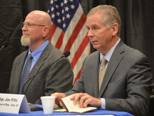 District 67 candidates Mike Warner and Rep. Joe Pitts