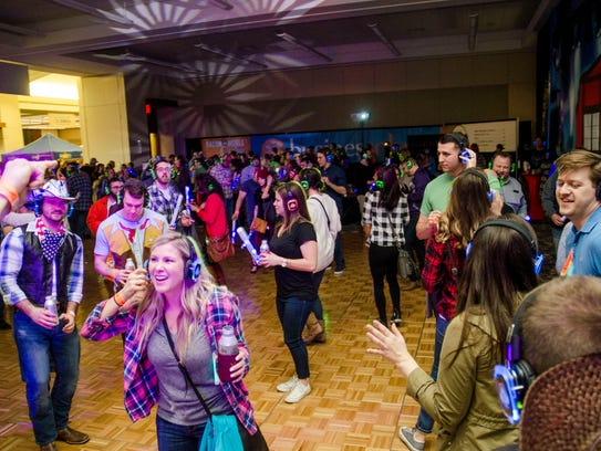 The silent disco was hopping at the 2017 Blue Ribbon