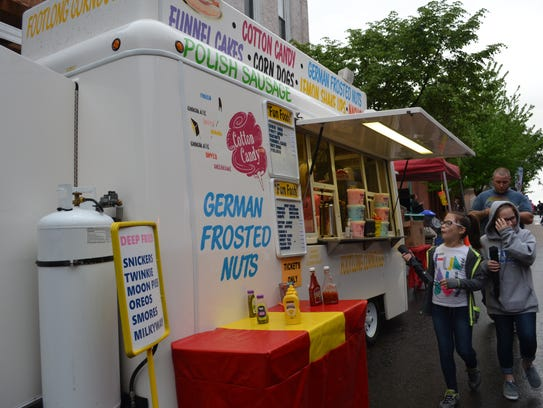 Cotton Candy food truck saw its share of visitors during