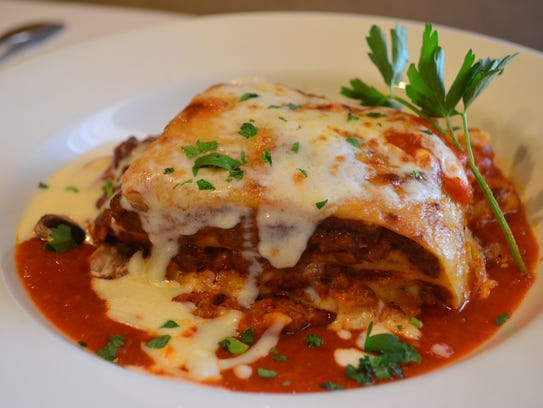 The lasagna at Avanzare is one of the best in town.