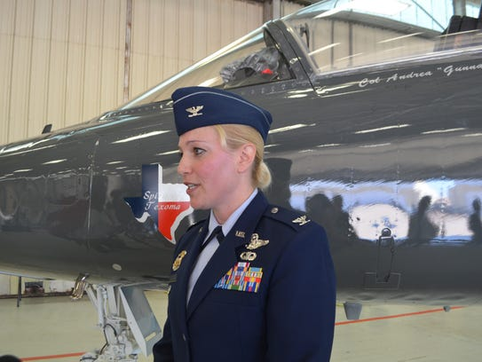 Col. Andrea Themely, new commander of the 80th Flying