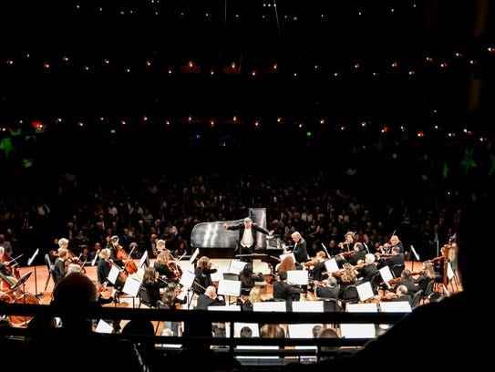 Hector Guzman performs with the Corpus Christi Symphony