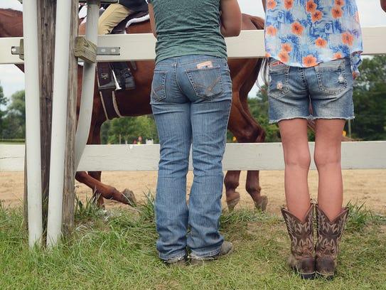 Spectators wait while participants compete at the St.