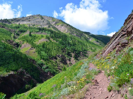 Skirting along Red Butte, just southeast of the Chinese