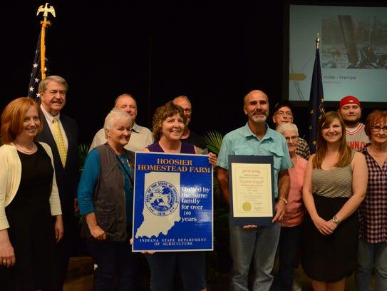 The Hofer-Wendel farm in Brookville received a Centennial