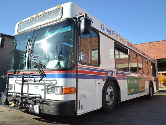 Great Falls Transit bus.