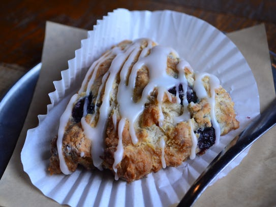 This blueberry scone was delicious.