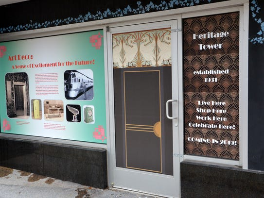 The graphics were installed on the first floor windows