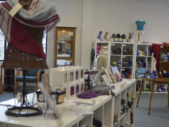 An interior shot of Must Love Yarn taken as the co-owners