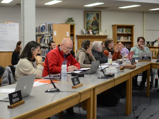The Burlington School Board discusses the budget numbers
