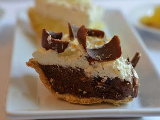 The French silk pie at Village Inn is a delicious representation