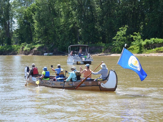The 30-foot Voyageur canoe, which started out with
