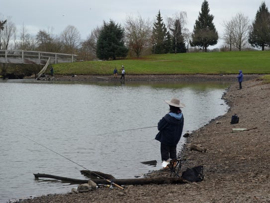 Despite the raw weather on Monday, most of the anglers
