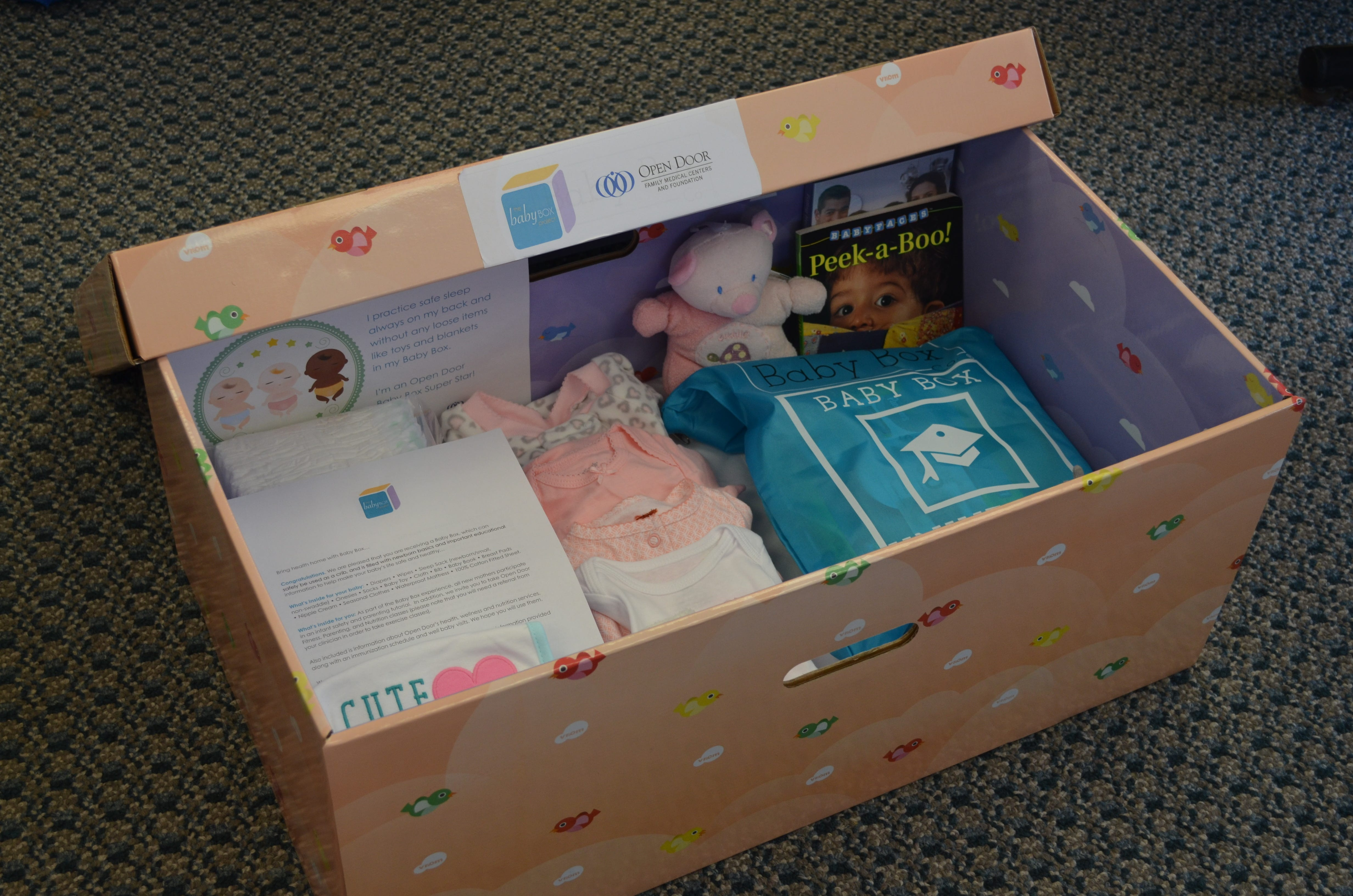 Open Door provides a free  newborn starter kit  with & Baby boxesu0027 intended to curb infant deaths Aboutintivar.Com