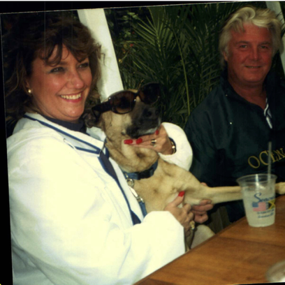 Michael Funk, who died in September, with his wife,