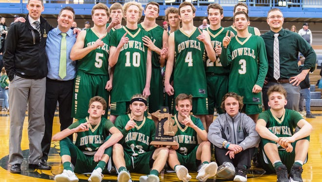 The Howell boys basketball team won its third district championship in four years by beating South Lyon on Friday night.