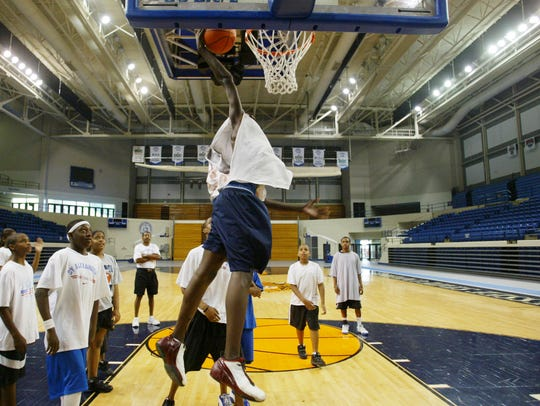 Tennessee State University Basketball Camp participants