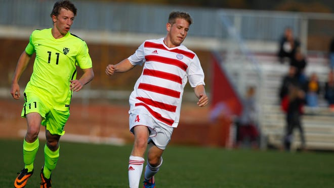 Senior forward Paul Wageman (4) and the St. John's soccer team are the No. 2 seed in this week's MIAC men's soccer playoffs.