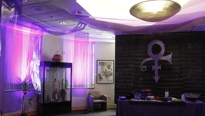 A room in the Black Cultural Center at Purdue University was decked out in purple for Prince's birthday on June 7, 2016.