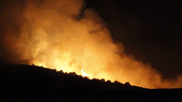 The Tenderfoot Fire near Yarnell.