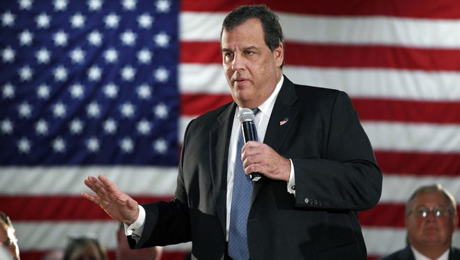 New Jersey Gov. Chris Christie addresses a gathering at a public forum recently.