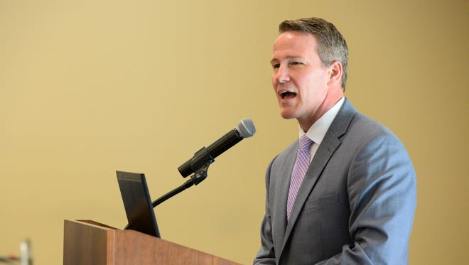 Jon Husted , Ohio Secretary of State, announces business growth in Ohio.