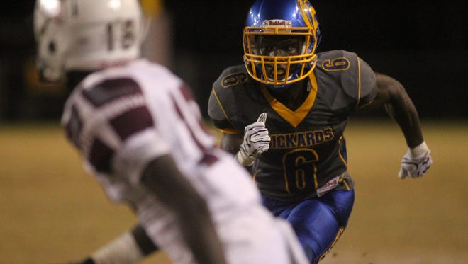 Rickards receiver Ferante Cowart hauled in a 33-yard touchdown against Madison County.