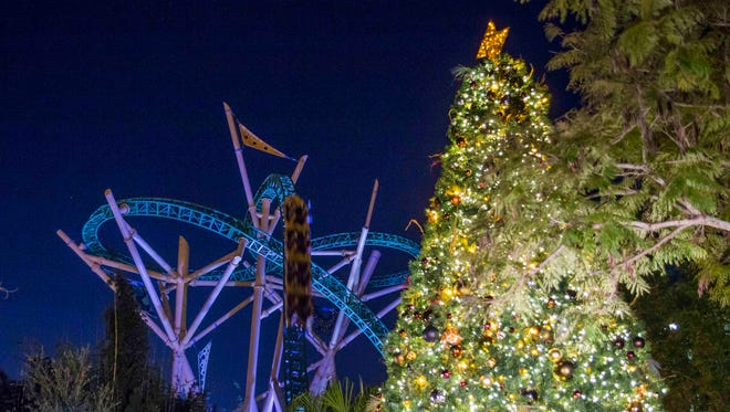 Busch Gardens Tampa in Florida will also transform into Christmas Town on select days from November 19 to January 2.