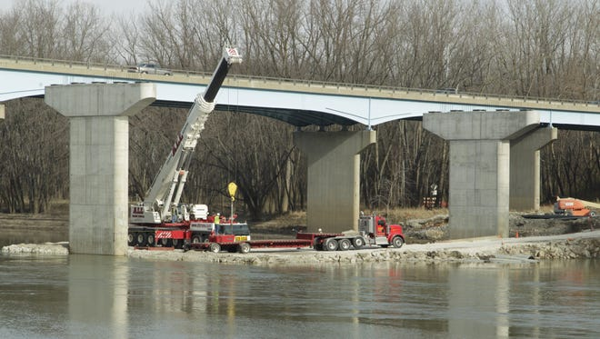 The Sagamore Parkway bridge over the Wabash River will close periodically beginning Tuesday, Dec. 12, 2017.
