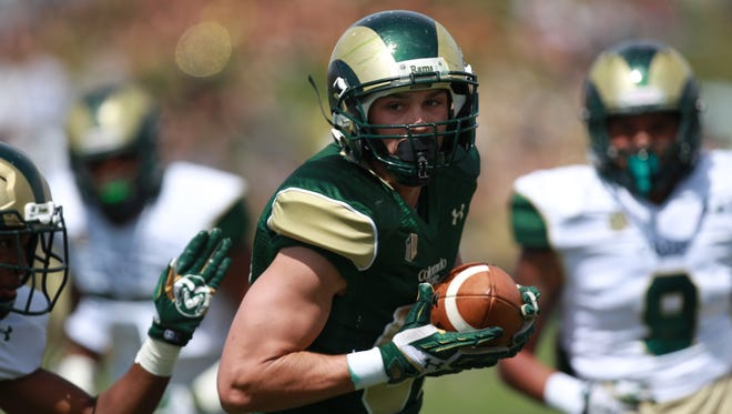 CSU senior wide receiver Cole Anderson, a walk-on, is turning heads for the Rams this spring.