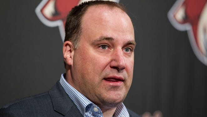 Anthony LeBlanc talks to media after failing to make the 2014 NHL playoffs, on Monday, April 14, 2014.