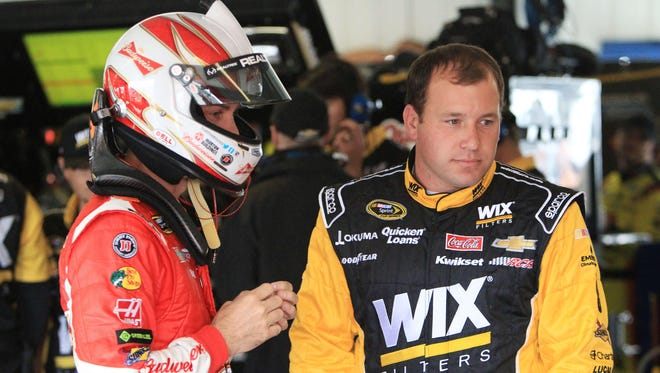 Kevin Harvick, left, and Ryan Newman haven't been teammates, but they have many team connections after essentially trading places this season.