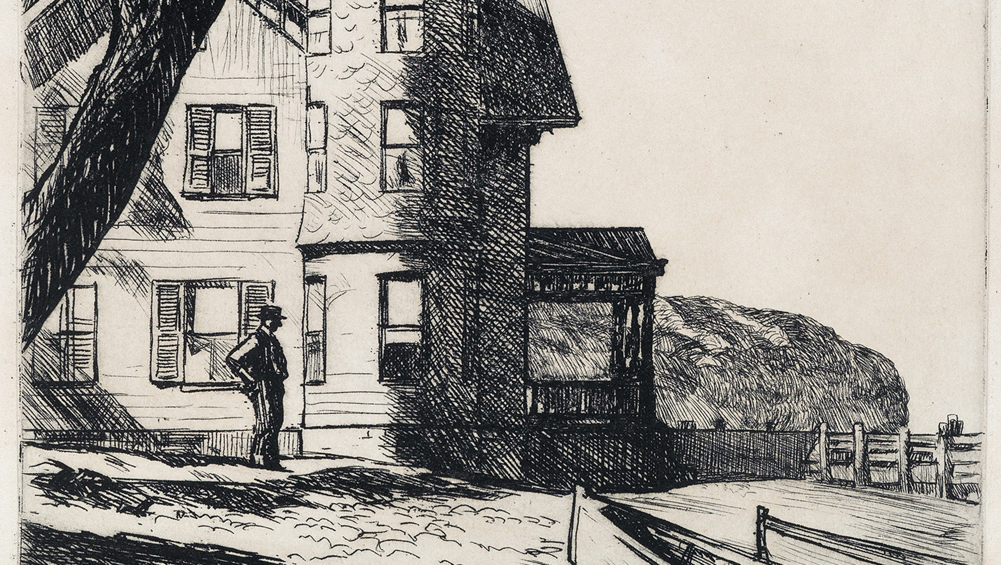 Edward Hopper Shadowed By Light >> Rare 1919 Hopper Work Up For Auction