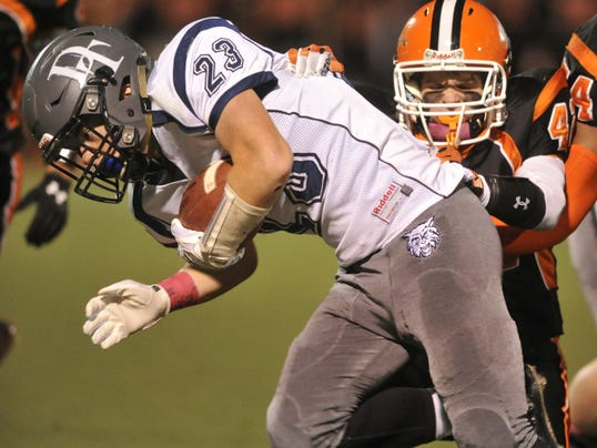 Will  Dallastown complete the 2015 regular season with an undefeated record? That's the plan for Dillon Callahan (23) and the Wildcats, when they host rival Red Lion tonight at 7 p.m.