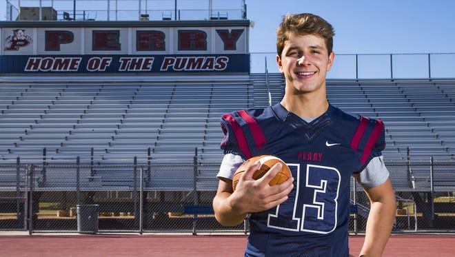 Brock Purdy of Gilbert Perry High School is a finalist for the Arizona Sports Awards Big School Football Player of the Year award.