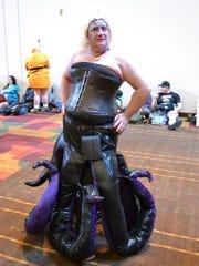 Vicky Nagel wore her handmade Ursula costume to  Gen Con 2016.