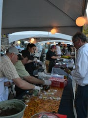 Hundreds of people attended FreshTaste to sample food from various local farms and restaurants.