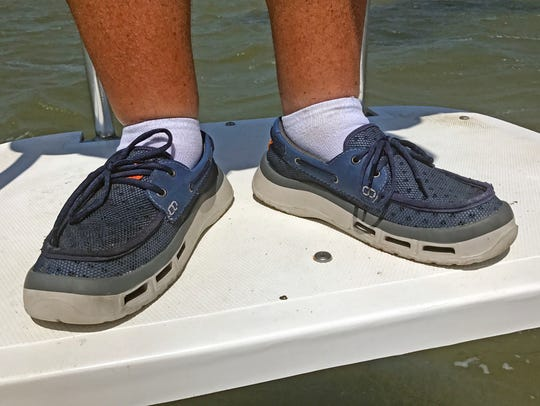 Foot and leg pain is common among anglers who spend