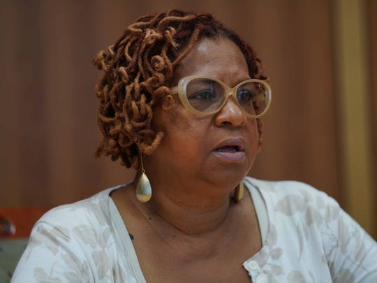 City Council President Hanifa Shabazz in June 2018 responding to allegations that former Wilmington City Council President Theo Gregory violated code of conduct.