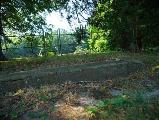 Steps to former Fork Branch School remain along Denneys