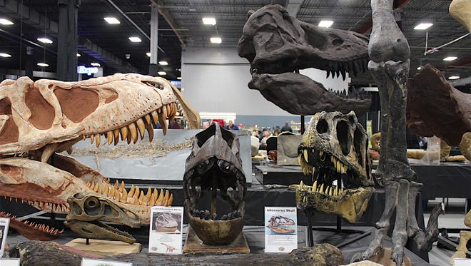 Lovers of dinosaurs should not miss the NY/NJ Mineral, Fossil, Gem and Jewelry Show.
