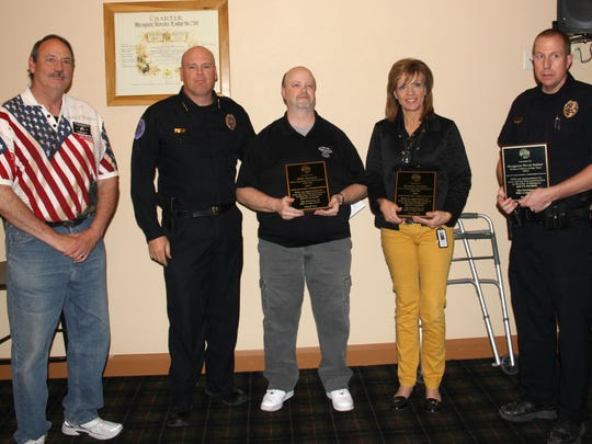 Three members of the Mesquite Police Department received awards at the annual event sponsored by the Elks Lodge.