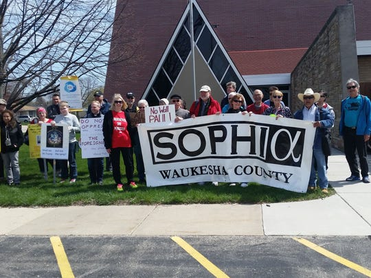 SOPHIA, a Waukesha-based coalition of 10 faith groups, took its work on the road in July as it helped its sister ecumenical organization there host a rally on immigration policy. SOPHIA will host a anti-hate prayer vigil in Waukesha on Thursday, Sept. 21.