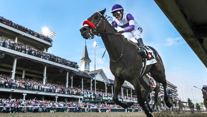 Nyquist, with Mario Gutierrez aboard, wins the Kentucky DerbyMay 7, 2016