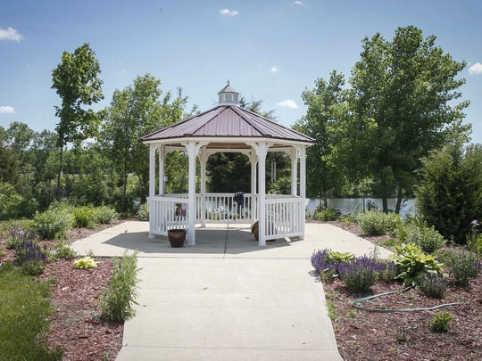 A gazebo dedicated to Elizabeth Collins is a place