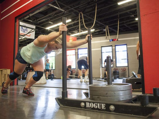 Brielle Atkin trains at Crossfit St. George in preparation for joining the USA National Weightlifting Team.